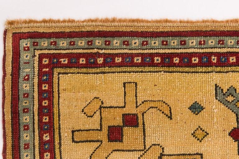 Wool Vintage Caucasian Rare Production Hashkazak For Sale