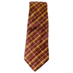Vintage C.C. Brothers 100% silk brown tie