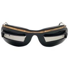 Vintage Cebe / Brevet 1960's Built in Visors Mask Made in France Sunglasses