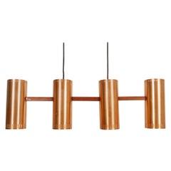 """Vintage Ceiling Pendant """"Cylinder IV"""" by Jo Hammerborg, 1960s"""