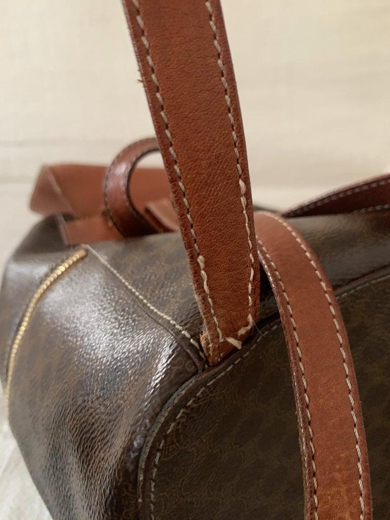 Vintage Celine Backpack Macadam  For Sale 5