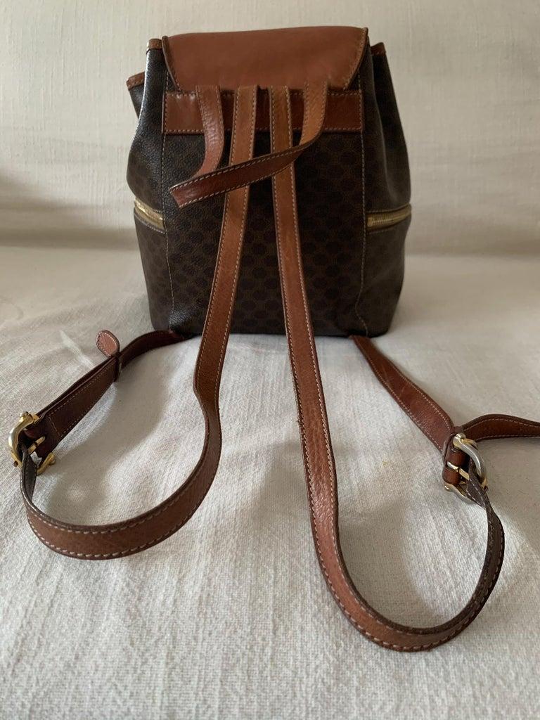 Vintage Celine Backpack Macadam  In Good Condition For Sale In Paris, FR