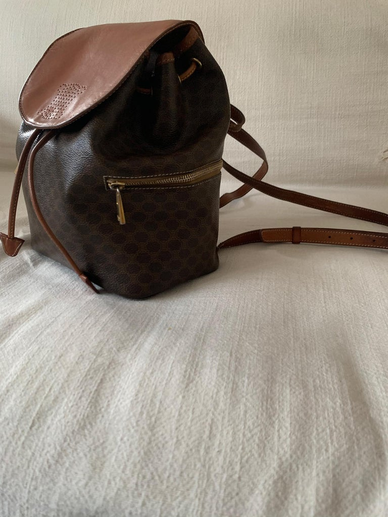 Women's Vintage Celine Backpack Macadam  For Sale
