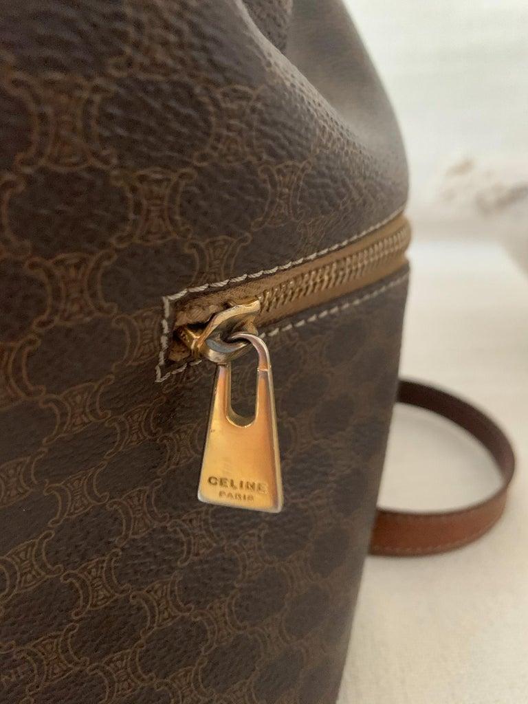 Vintage Celine Backpack Macadam  For Sale 1