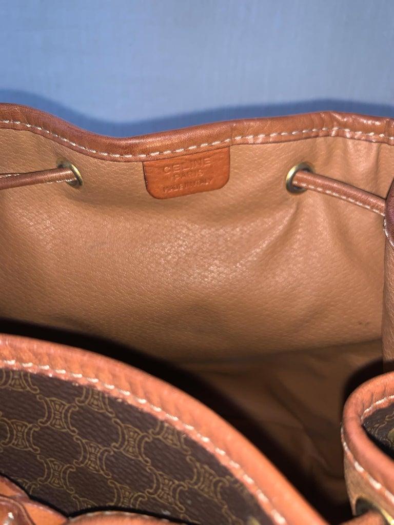 Vintage Celine Backpack Macadam  For Sale 2