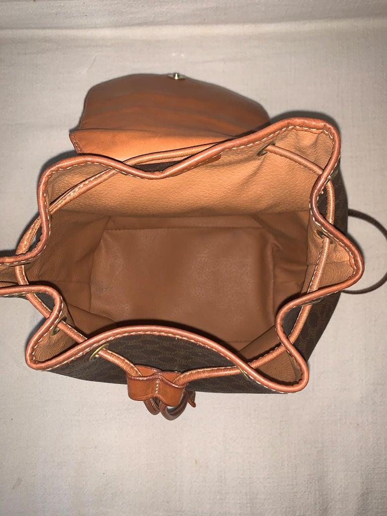 Vintage Celine Backpack Macadam  For Sale 3