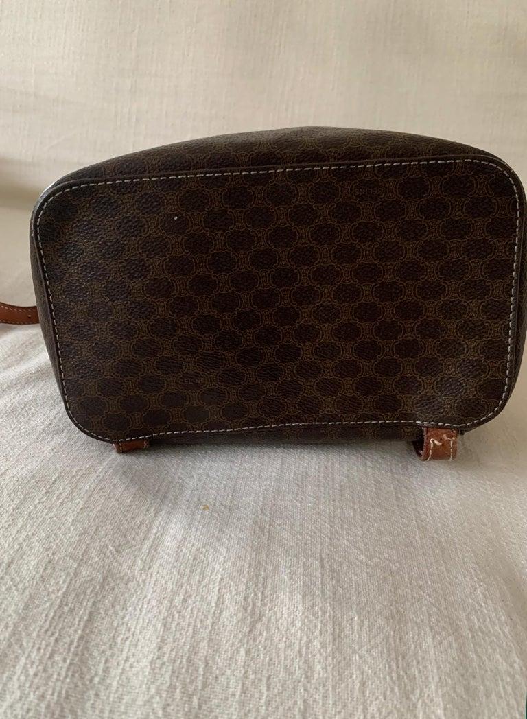 Vintage Celine Backpack Macadam  For Sale 4