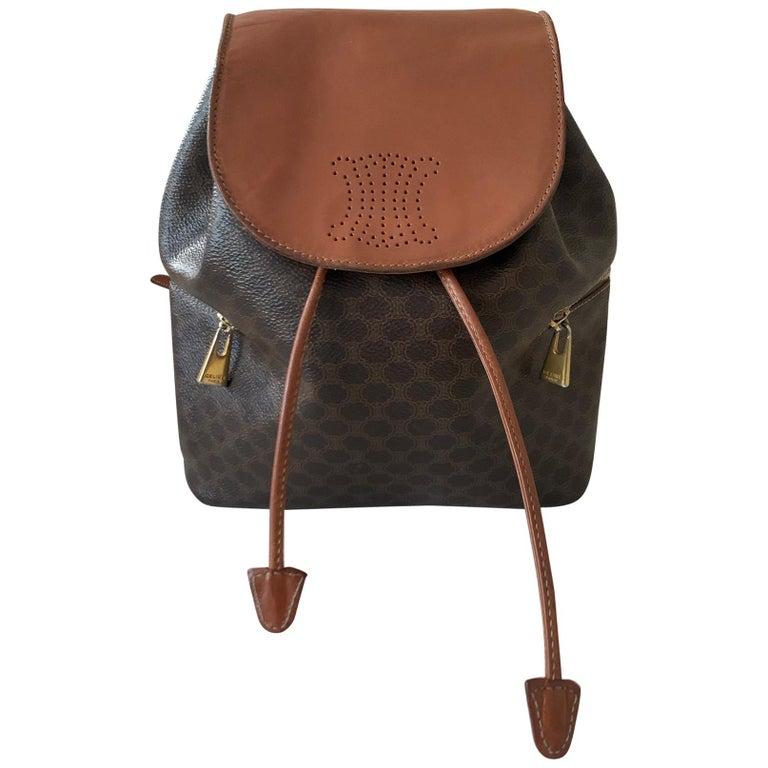 Vintage Celine Backpack Macadam  For Sale