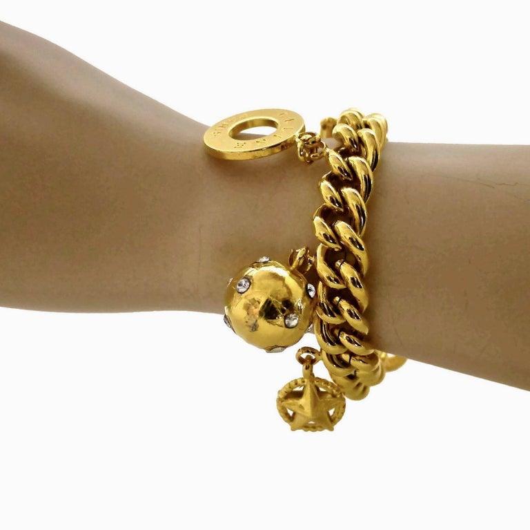 Women's Vintage CELINE Iconic Charm Chain Bracelet For Sale