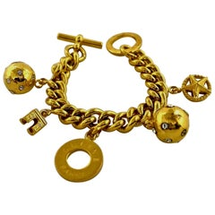 Vintage CELINE Iconic Charm Chain Bracelet