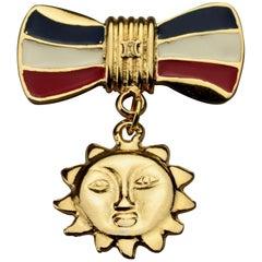 Vintage CELINE Logo Bicentenary French Revolution Sun Brooch