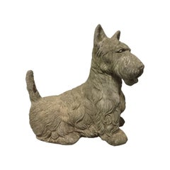 Vintage Cement Scottish Terrier