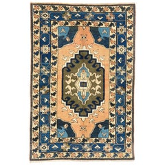 Vintage Central Anatolian Konya Rug, All Wool and Natural Dyes