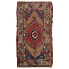 3.6x6.6 Vintage Oriental Rug. One of a kind Wool Carpet for Home & Office Decor
