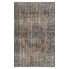 Vintage Central Anatolian Rug Overdyed in Gray