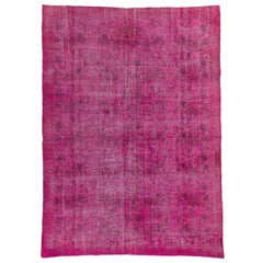 Vintage Central Anatolian Rug Overdyed in Pink