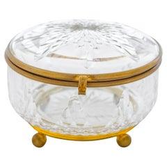 Vintage Century French Circular Cut Glass Box