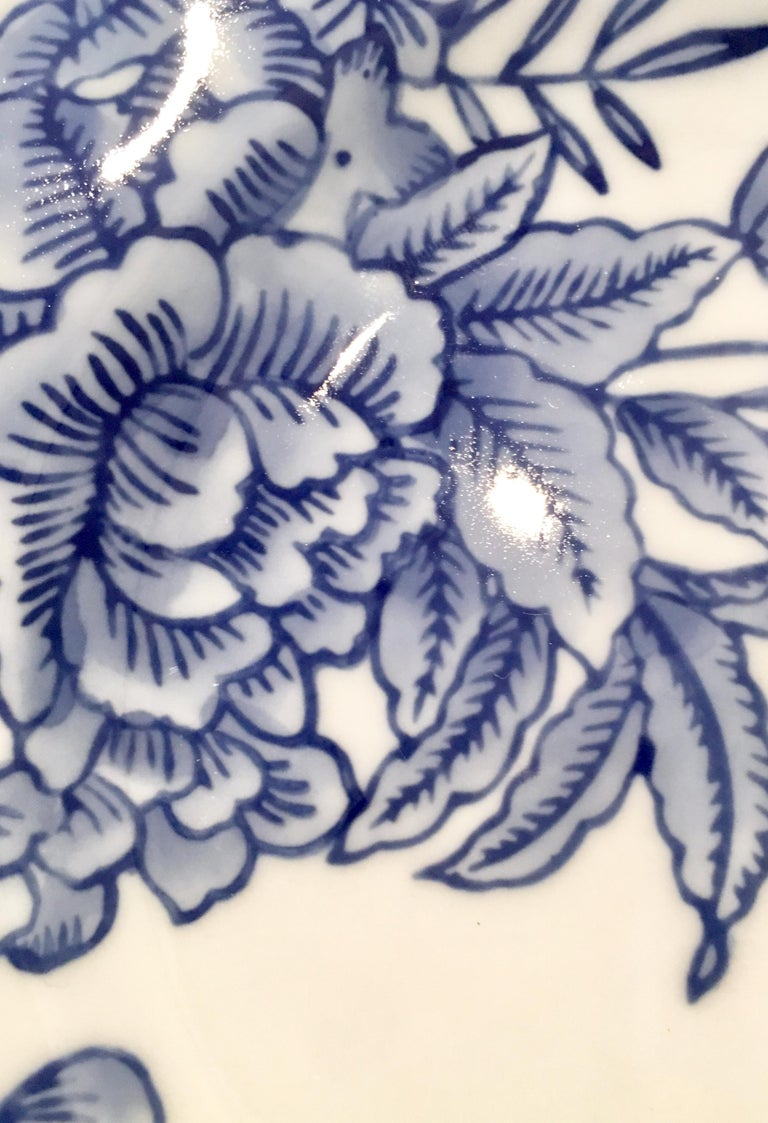 Vintage Ceramic Blue & White Salad/Dessert Plates S/9 by, Creativeco-Op For Sale 1