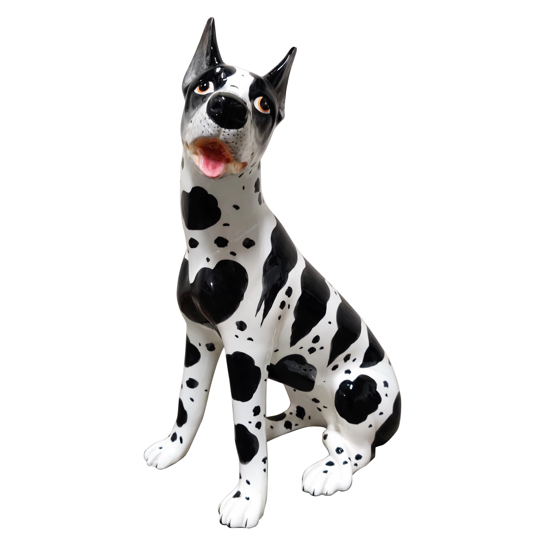 Vintage Ceramic Dog Sculpture, 1960s