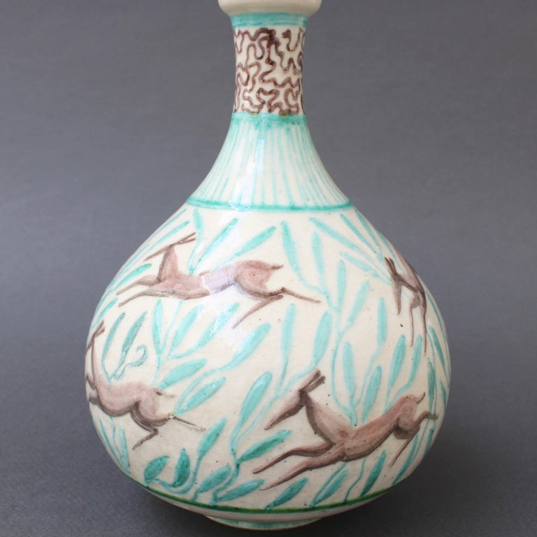 Vintage Ceramic Flower Vase by Jean Mayodon, circa 1960s For Sale 7