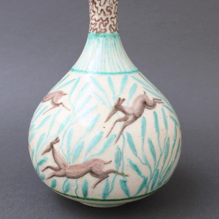 Vintage Ceramic Flower Vase by Jean Mayodon, circa 1960s For Sale 8