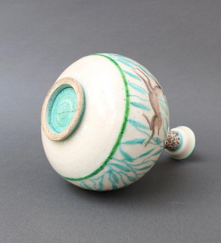 Vintage Ceramic Flower Vase by Jean Mayodon, circa 1960s For Sale 9