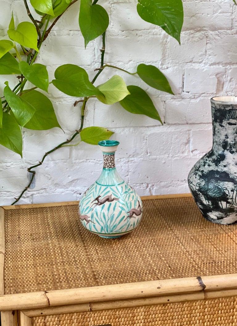 Islamic Vintage Ceramic Flower Vase by Jean Mayodon, circa 1960s For Sale
