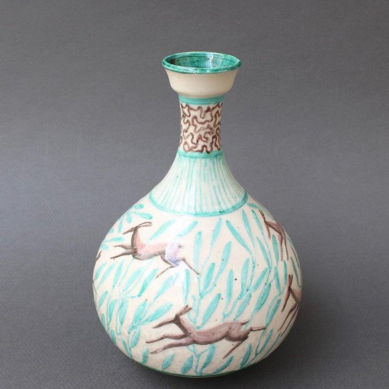 Vintage Ceramic Flower Vase by Jean Mayodon, circa 1960s For Sale 1