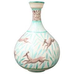 Vintage Ceramic Flower Vase by Jean Mayodon, circa 1960s