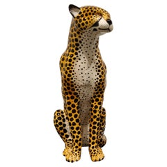 Vintage Ceramic Leopard, 1970s