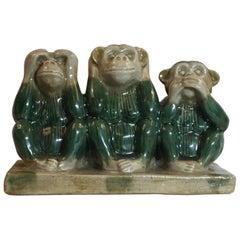 Vintage Ceramic of the Three Monkey