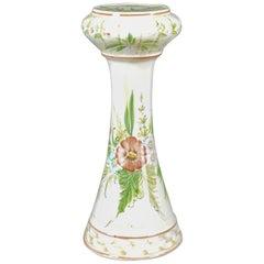 Vintage Ceramic Plant Stand, Floral, Portuguese, Cercapia, Late 20th Century