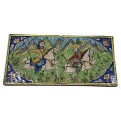 Vintage Ceramic Rectangular, Wall Hanging Tile Set