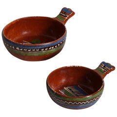 Vintage Ceramic Serving Dishes, Set of 2, Mexican Pottery
