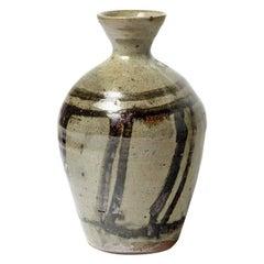 Vintage Ceramic Stoneware Vase by Claire Berger in La Borne, circa 1980