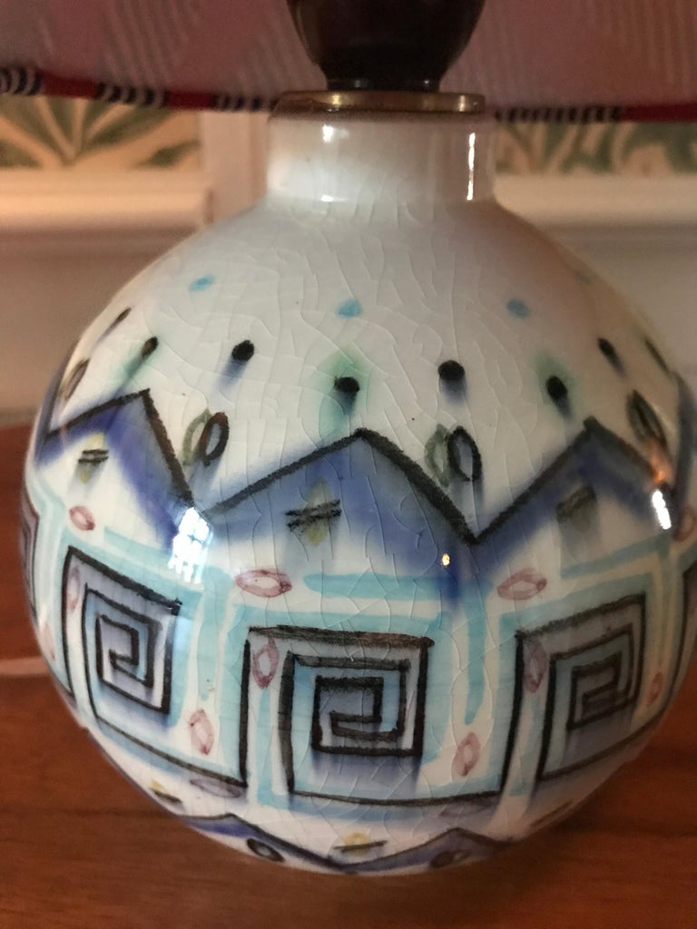 French Vintage Ceramic Table Lamp For Sale