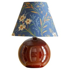 Vintage Ceramic Table Lamp With Customized Shade By The Apartment, France 1970's