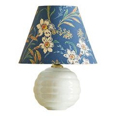 Vintage Ceramic Table Lamp with Shade by the Apartment, France Mid 19th-Century