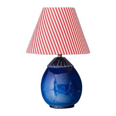 Vintage Ceramic Table Lamp with Shade, France, Mid 19th-Century