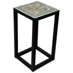 Vintage Ceramic Tile Side Table
