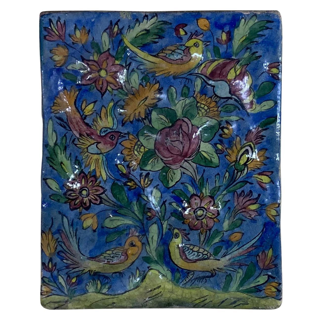 Vintage Ceramic Tile Wall Hanging