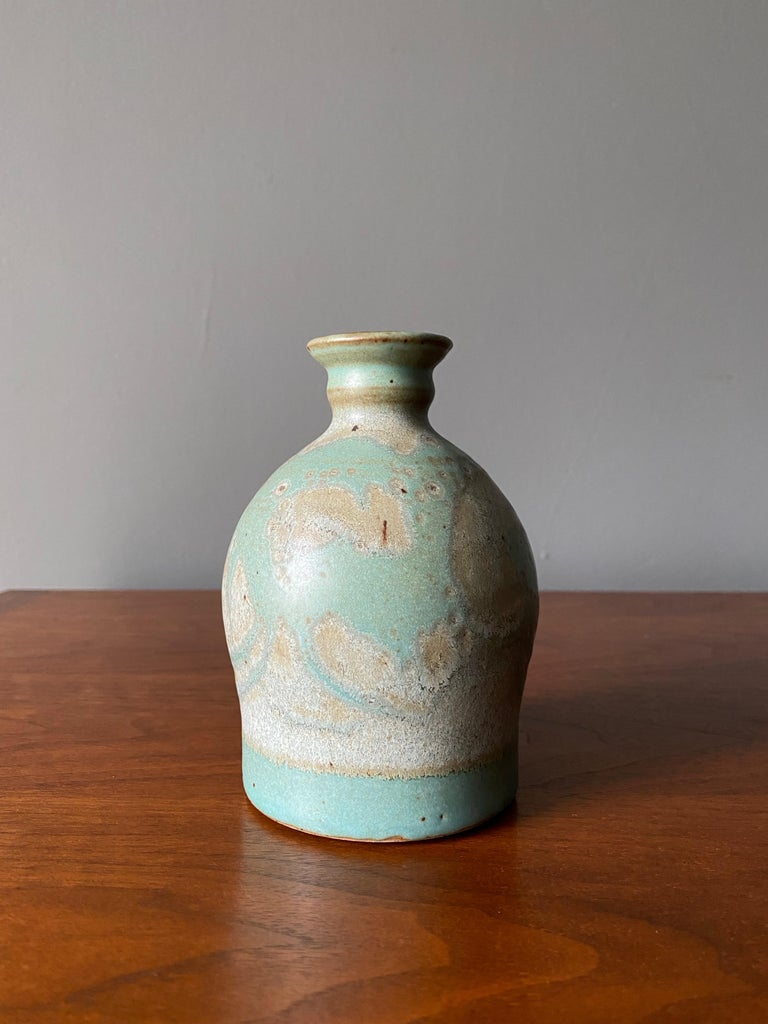 American Vintage Ceramic Vase, Circa 1960s For Sale