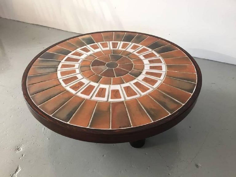 Mid-Century Modern Vintage Ceramic Wall Panel Table by Roger Capron For Sale