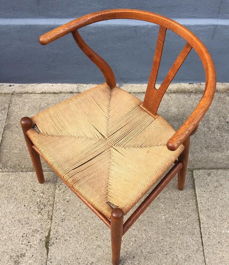 Vintage CH24 Oak Side Chair by Hans J. Wegner for Carl Hansen & Søn, 1960s 4