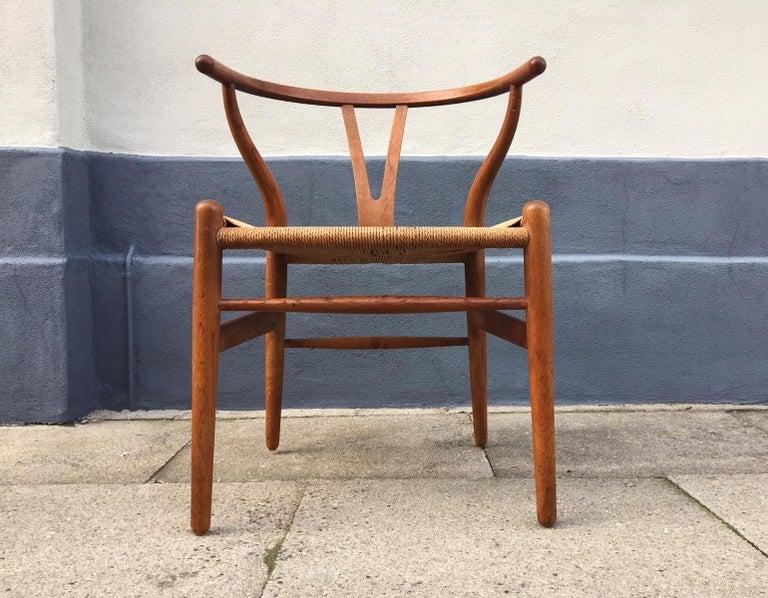 Vintage CH24 Oak Side Chair by Hans J. Wegner for Carl Hansen & Søn, 1960s 2