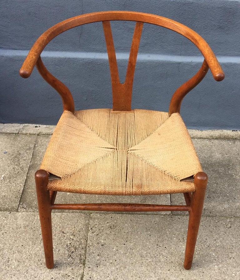 Vintage CH24 Oak Side Chair by Hans J. Wegner for Carl Hansen & Søn, 1960s 3