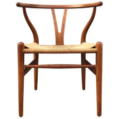 Vintage CH24 Oak Side Chair by Hans J. Wegner for Carl Hansen & Søn, 1960s