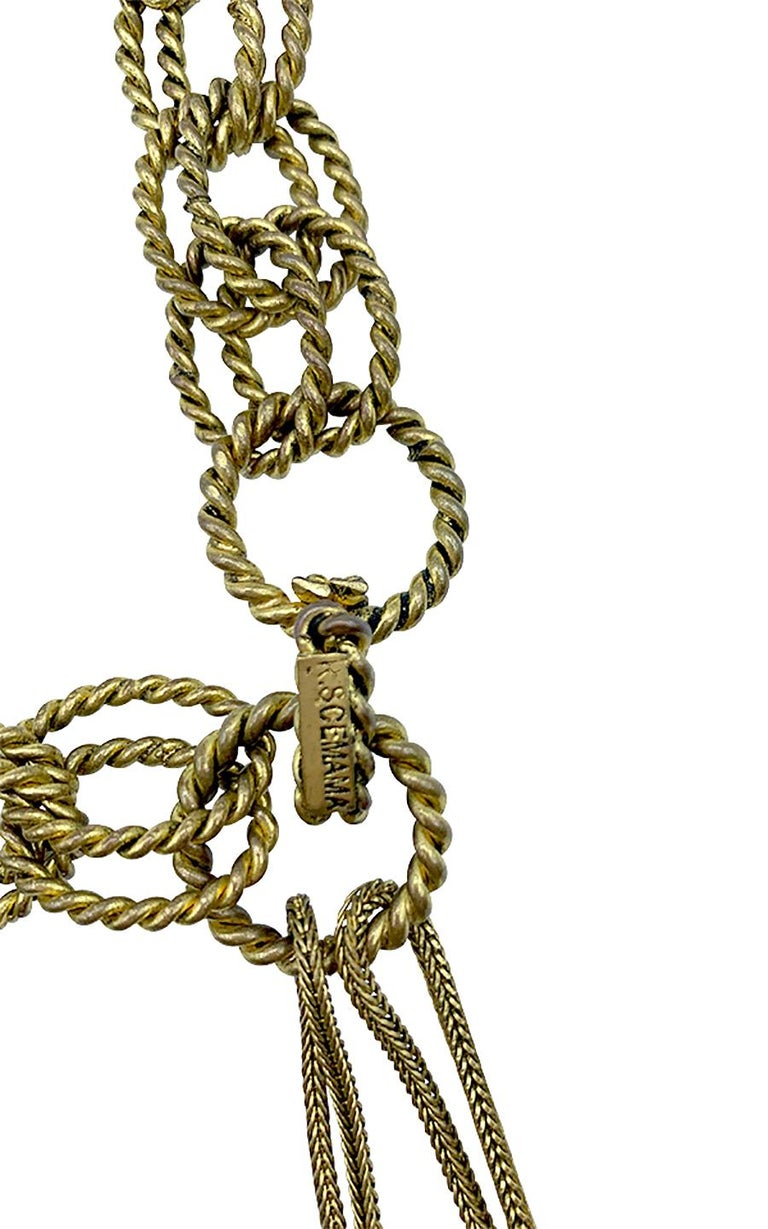 Vintage Chain Belt Roger Scemama for Yves Saint Laurent 1968 In Good Condition For Sale In Paris, FR