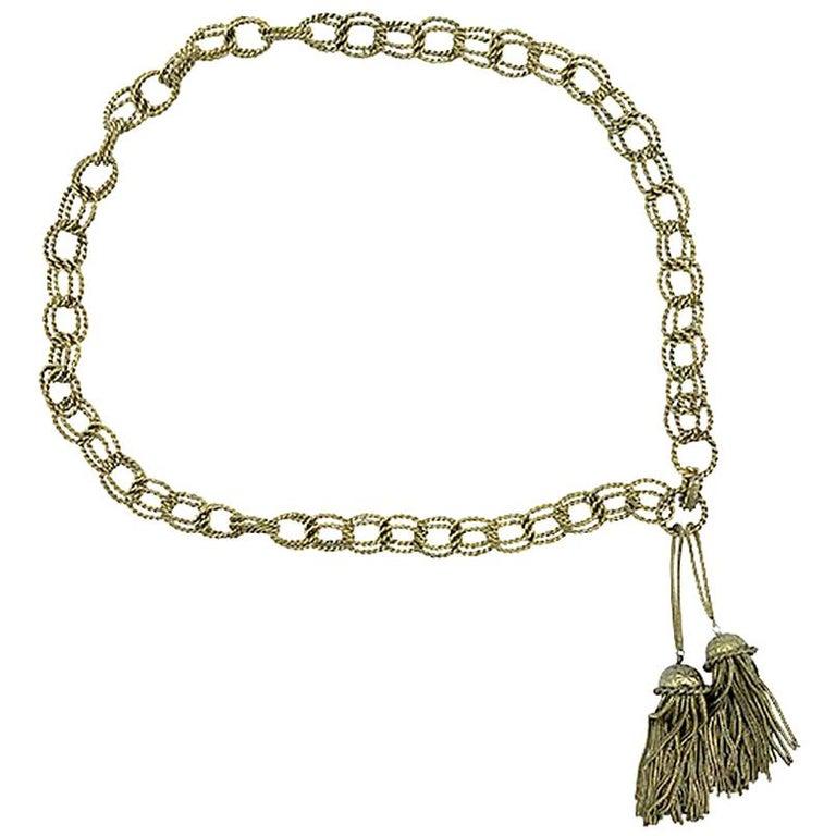Vintage Chain Belt Roger Scemama for Yves Saint Laurent 1968 For Sale