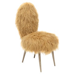 Vintage Chairs 1950 by U. Mascagni, Trasformed by Draga&Aurel, Fur, 21st Century